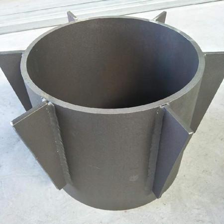 开口型钢制桩尖