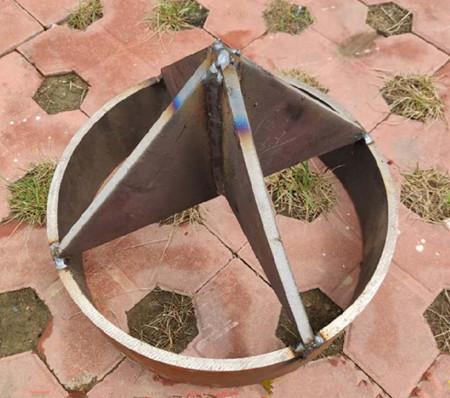 开口型十字钢制桩尖
