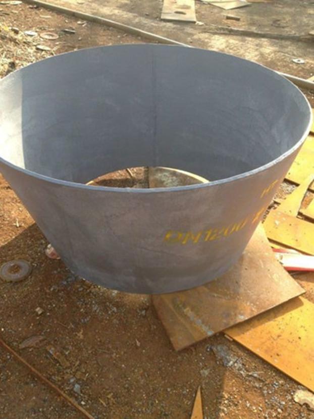 钢板卷制异径管的制作方法